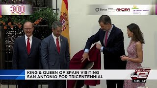 Video: Spanish king, queen receive royal treatment during visit to San Antonio