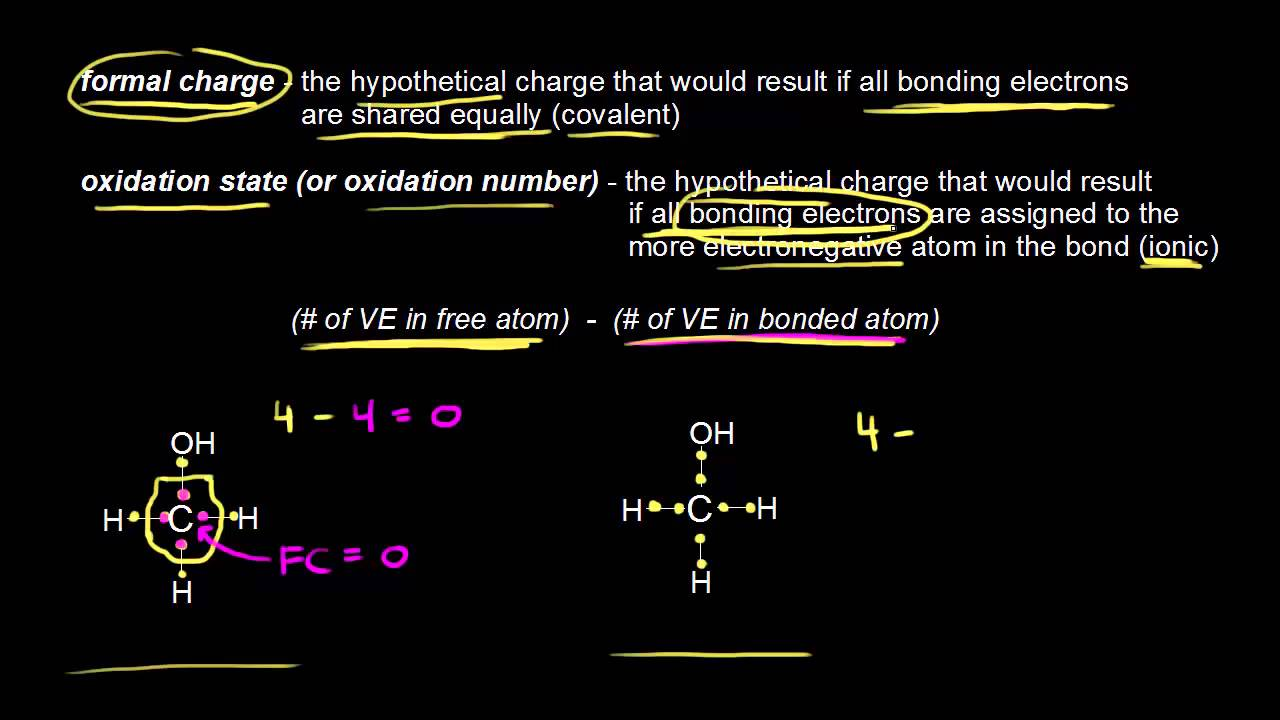 Comparing formal charges to oxidation states organic chemistry comparing formal charges to oxidation states organic chemistry khan academy youtube urtaz Choice Image