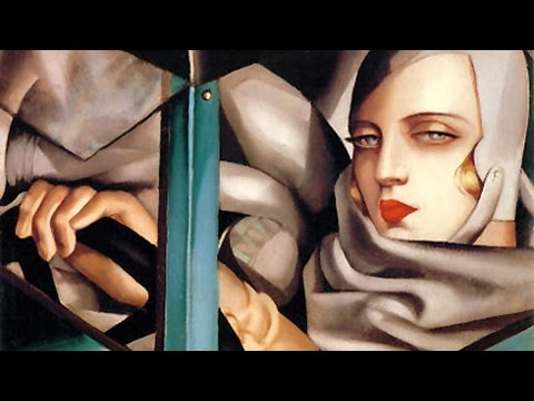 Tamara de Lempicka - Autoritratto sulla Bugatti verde (spiegato ai truzzi)