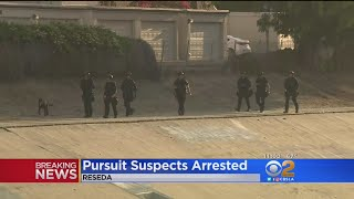 2nd Suspect In Carjacking, Chase Arrested In Reseda