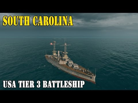 World of Warships - USS SOUTH CAROLINA Battleship USA Gameplay