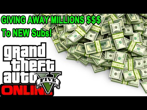 GTA 5 Giving Away MILLIONS To NEW Subs! (85% Heist Giveaway) #gta5