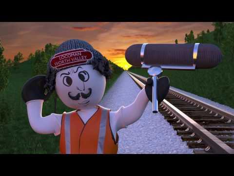 Cartoon Animation CGI Locomotive