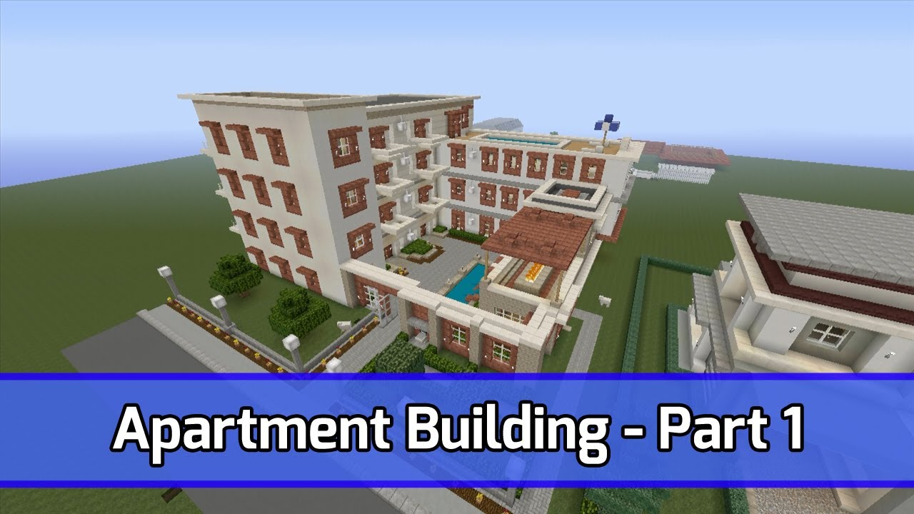 Minecraft Let S Build Apartment Building Xbox 360 Tutorial Part 1 City Texture Pack