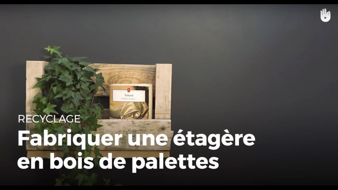 fabriquer une tag re simple en bois de palette recycler youtube. Black Bedroom Furniture Sets. Home Design Ideas
