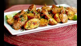 Запекаем картошку с салом на электрошашлычнице. Очень вкусно и быстро.