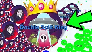 THE BIGGEST DOUBLE SPLITS IN FANIX.IO! CRYSTALS NEW GAME | AGAR.IO LIKE GAME