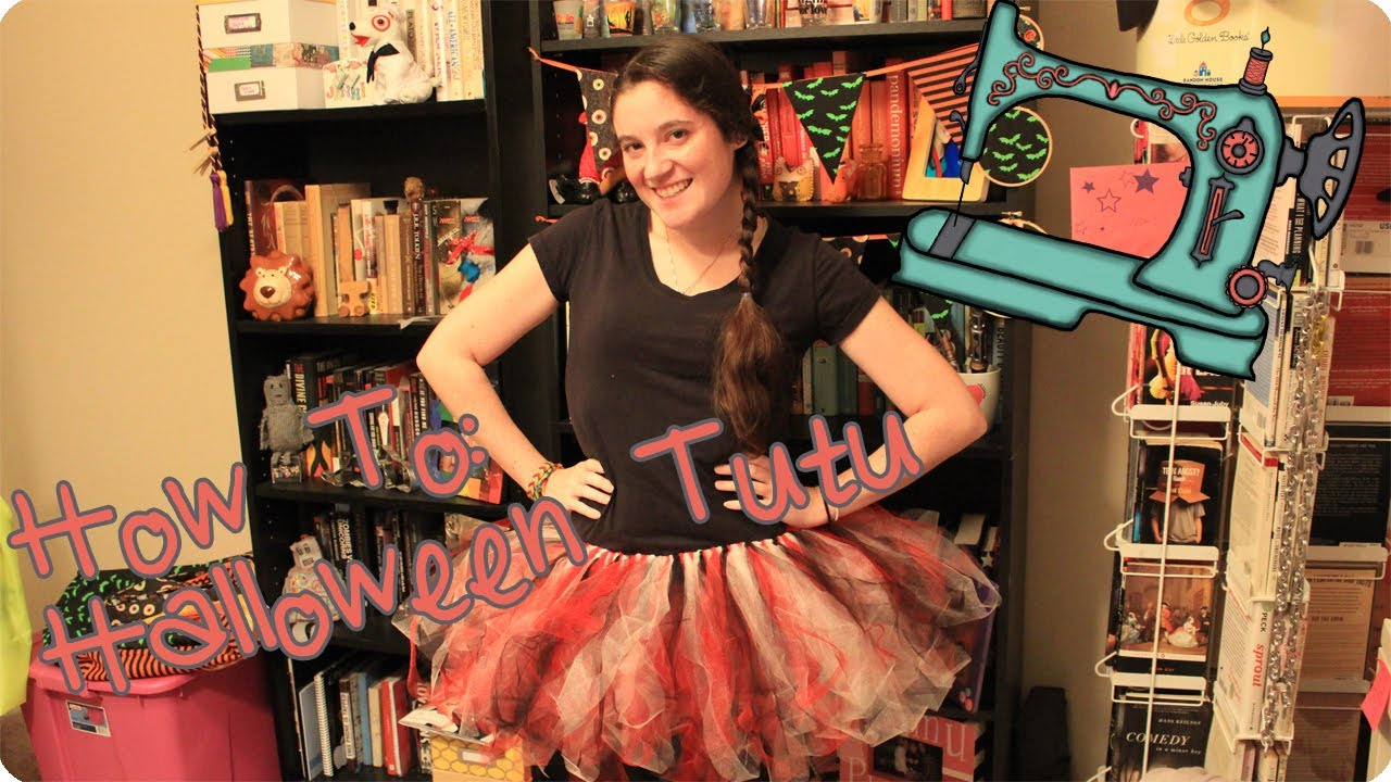 sc 1 st  YouTube & How To Make a Diy Tutu | No Sew Halloween Costume Idea - YouTube
