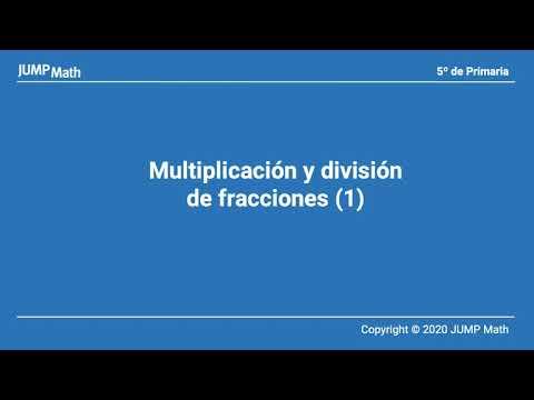 5.2. Unidad 9. Multiplicación y division de fracciones I