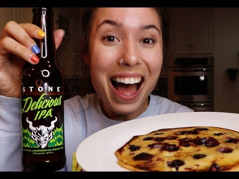 COOKING WITH KRISTEN! | Beer Pancakes!