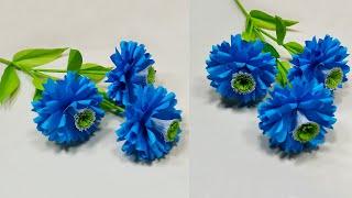 Paper Crafts Idea: Handmade Paper Stick Flower DIY Easy Idea | Home Decor| Jarine's Crafty Creation