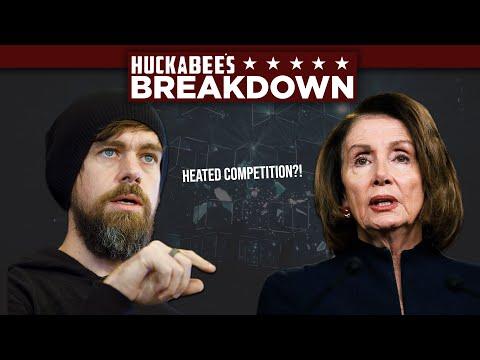 Jack Dorsey In HEATED Competition With NANCY PELOSI! | Breakdown | Huckabee