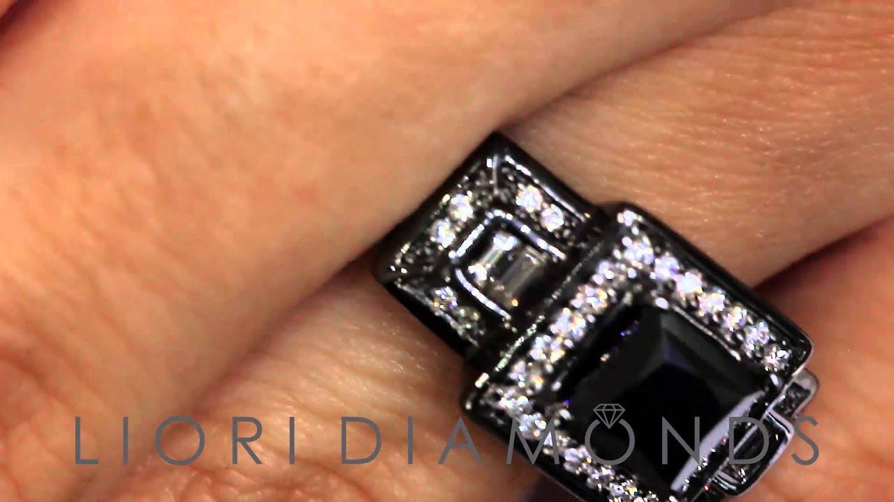 BDR SOLD 003 2 40 Carat Princess Cut Natural Black Diamond