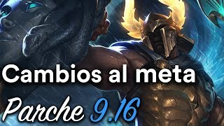 Grandes cambios al meta: Bufeos a Top y Mid - Parche 9.16 (League of Legends)