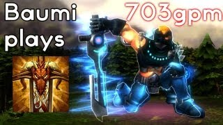 HoN TMM   703 GPM DOOMBRINGER CYBER PUNK!   Baumi plays Scout