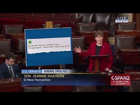 'Propaganda empire': Senator Shaheen talks bill to take on RT