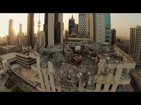 Ghost Building in Kuwait City - DJI Phantom 2 Vision Plus