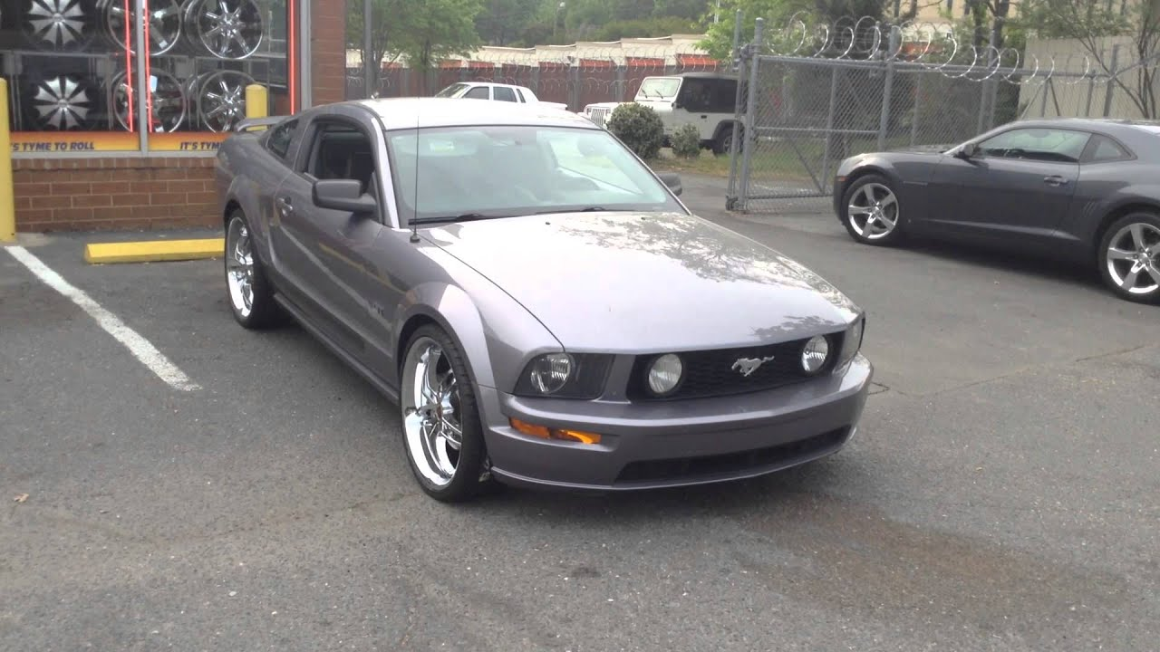 2006 ford mustang gt rolling out of rimtyme of charlotte on 22 s youtube