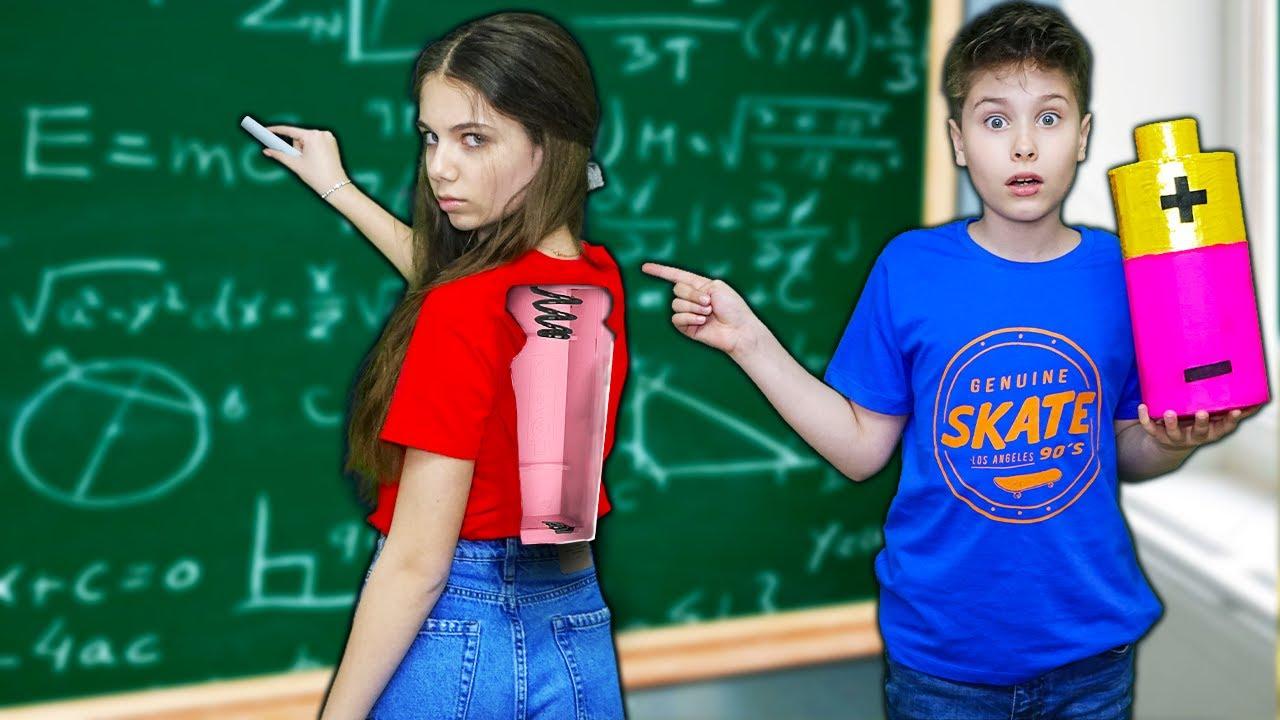 24 ЧАСА моя подруга РОБОТ в школе челлендж Fast Sergey