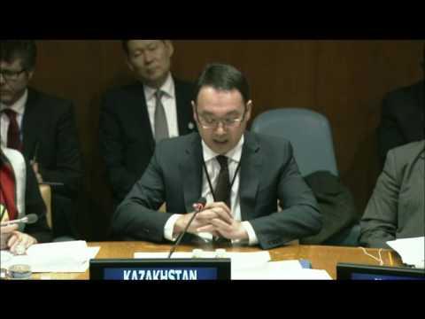 Yerzhan Ashikbaev, Deputy Foreign Minister of Kazakhstan, makes intriductory remarks