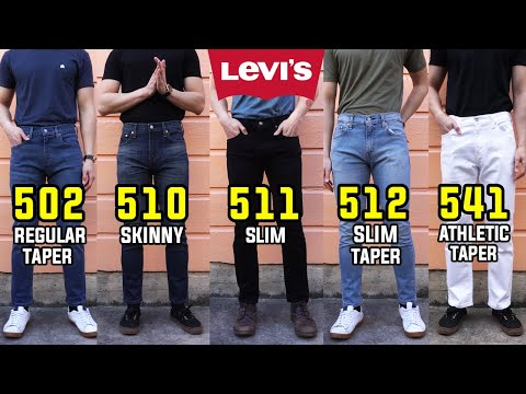 COMPLETE Guide To Levi's Slim/Skinny/Taper Fit Jeans!   502, 510, 511, 512, 541 Comparison + Review