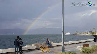 Встреча. Милашный кораблик и сУрьёзная делегация в радужный день \ Прогулки ноября, Измир.