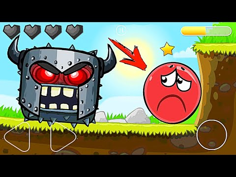 Красный Шар - мод на игру БОССОМ на уровне ! Red Ball 4 mod 100 square шарик   от Спуди !