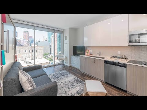 A north-facing studio apartment at the South Loop's new Eleven40