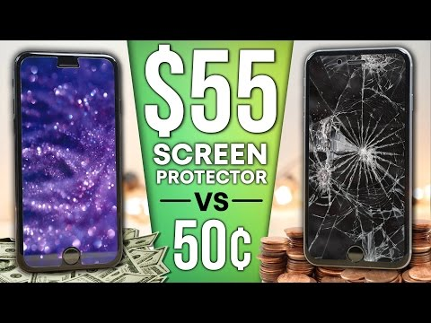 Thumbnail: $0.50 Screen Protector vs $55 Sapphire Protector DROP Test!