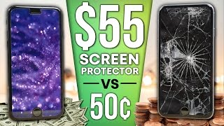 50¢ Screen Protector vs $55 Sapphire Protector DROP Test!