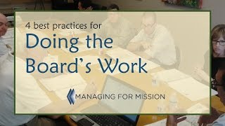 4 Best Practices for Doing the Board's Work