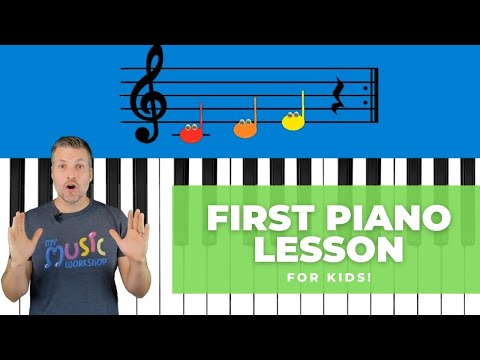 Easy First Piano Lesson - For Kids!