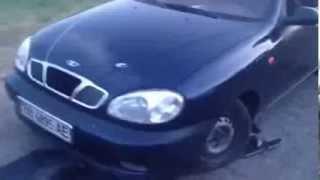 Луганск Новоайдар 25.05.14 расстрелянный автомобиль