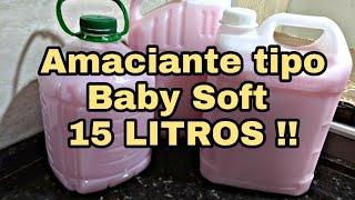 Faça 15 Litros de Amaciante – Baby Soft