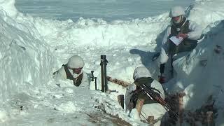 Стрельбы миномётчиков морской пехоты Тихоокеанского флота на Камчатке