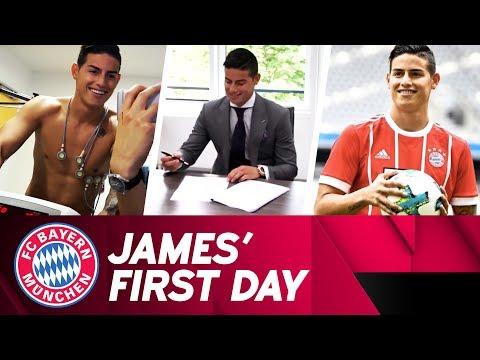 James Rodríguez🇨🇴 : First Day at FC Bayern ⚽