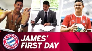 James Rodríguez🇨🇴 : First Day at FC Bayern ⚽