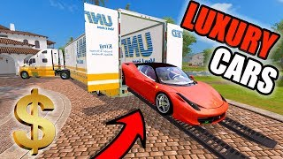 FARMING SIMULATOR 2017 | DELIVERING LUXURY CARS TO A BILLIONAIRE