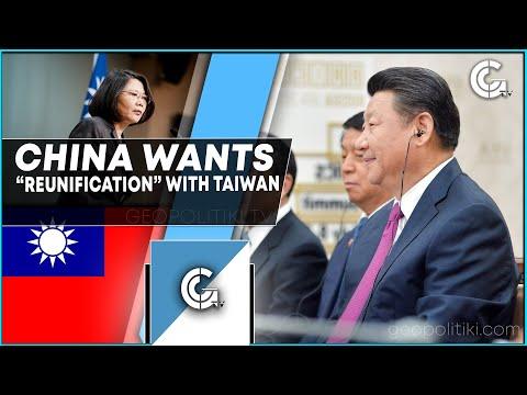 Chinese President Xi Jinping wants peaceful 'reunification' with Taiwan