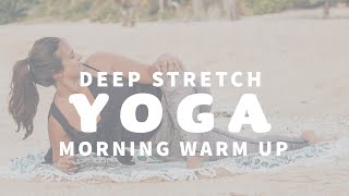 YOGA CLASS ☀️ Morning Yoga Warm Up for Lower Body | Vieques Puerto Rico