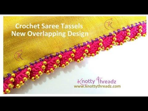 New Saree Kuchu Design | Crochet or Krosha Saree Tassels using Beads | 1/10 | www.knottythreadz.com
