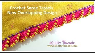 New Saree Kuchu Design | Crochet or Krosha Saree Tassels using Beads | 1/10 | www.knottythreadz.com