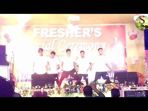 Cocroach dance Complex at freshers at lumding college