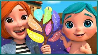 7 jours dans la semaine - Comptines pour bébé en francais - Viola Kids Cartoon LE Français [HD]