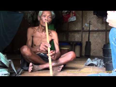 Pala'wan bamboo flute played by Undu Apäl, Mäkägwaq, Palawan, Philippines.
