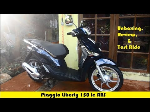 Unboxing, Review, and Test Ride Piaggio Liberty 150 ie ABS 2017 #MotoVlog 16