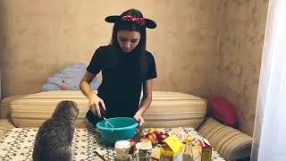 ПРОСТОЙ РЕЦЕПТ ШАРЛОТКИ / Шотландская кошка готовит шарлотку