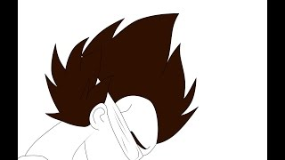 Simple Vegeta Line-Art | Speed Draw-Photoshop CS6