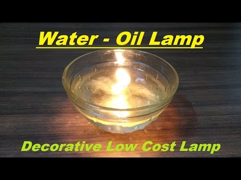 How to make Decorative Water-Oil lamp | Low Cost Lamp |
