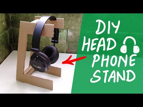 DIY headphone stand from cardboard 🎧